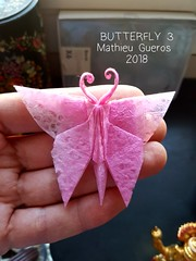 ORIGAMI BUTTERFLY 3 (Mathieu Gueros Origami) Tags: mathieuguerosorigami mathieugueros origami butterfly papillon origamibutterfly origamipapillon