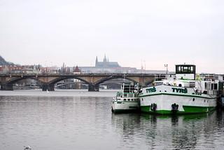 Vltava s Pražským hradem