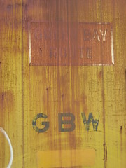 """Faintly visible """"GREEN BAY ROUTE"""" herald (AndyWS formerly_WisconsinSkies) Tags: railroad railway railfan boxcar rollingstock greenbayandwestern gbw abandoned"""
