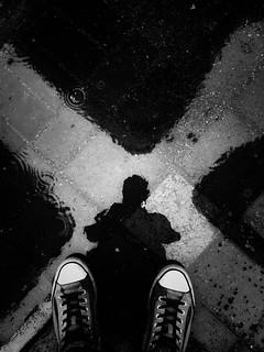 - let me know -  #reflection #rain #abstract #freestyle #other #blackandwhite #blackandwhitephoto #blackandwhitephotography #bw #bwphotography #bnw #bnwphotography #monochrome #monochromephotography #iphone