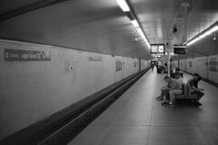 Some Quality Tunnel Time.jpg (Milosh Kosanovich) Tags: chicagophotographicart epsonv750pro chicagophotoart chicago miloshkosanovich kodaktmaxrsdeveloper kodaktmax100 mickchgo minoltax700 chicagophotographicartscom ctal logansquarestation