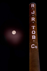 January 31st Supermoon (Casey AKO) Tags: moon supermoon winston salem nc north carolina reynolds building rjr tobacco