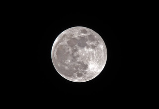 Supermoon seen from Troon 31st January 2018