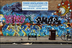 Time / Pher / Lord / Bams (Alex Ellison) Tags: time osv pher lord bams ghz eastlondon shoreditch urban graffiti graff boobs