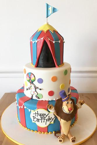 Circus Lion Birthday Cake