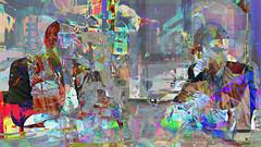 Zwiegespraech 11h im Buero (wos---art) Tags: bildschichten zwiegespräche dialog kommunikation auseinandersetzung beziehung gespräch unterhaltung gott god begegnung meeting