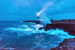 Lighting the safe passage (Twiglet Images) Tags: tripod benro dorset crashing waves coast cosst lighthouse portland nikon