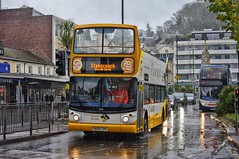 Parrot in the Rain (Better Living Through Chemistry37) Tags: stagecoach stagecoachdevon stagecoachsouthwest opentopbuses mx54lpn 18186 dennistrident alx400 buses busessouthwest busesuk transport transportation vehicles vehicle psv publictransport hop122