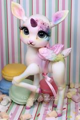 Fantine OOAK with Raquel clemente faceup (K6 dolls) Tags: bjd nympheasdoll deer fanny ooak
