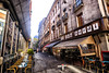Cafes in Grenoble, France (` Toshio ') Tags: toshio grenoble france french europe european europeanunion cafe restaurant table chairs street architecture fujixt2 xt2 people city