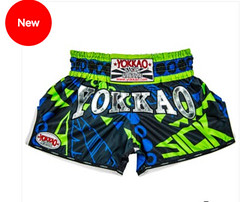 Yokkao - Carbonfit Sick Blue-Green Shorts (A1 Fight Gear) Tags: yokkaomuaythaitshirts yokkao boxing gloves shorts ankle guards carbonfit muay thai pro tshirts