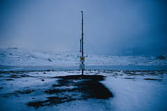 Weather Station (BurlapZack) Tags: pentaxk1 pentaxhddfa28105mmf3556eddcwr vscofilm pack01 iceland weatherstation outpost winter snow ice cold chill blue morning bluehour twilight early tundra plain frozenwaste windy wind travel vacation empty desolate silent still hushed noiseless soundless chilly cool freezing icy snowy wintry frosty frigid gelid chilled frozen shivery numb benumbed unfriendly inhospitable unwelcoming forbidding glacial