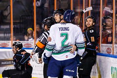 """Kansas City Mavericks vs. Florida Everblades, February 18, 2018, Silverstein Eye Centers Arena, Independence, Missouri.  Photo: © John Howe / Howe Creative Photography, all rights reserved 2018 • <a style=""""font-size:0.8em;"""" href=""""http://www.flickr.com/photos/134016632@N02/40387901471/"""" target=""""_blank"""">View on Flickr</a>"""