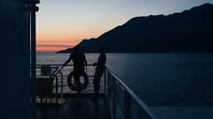Take a holiday (www.instagram.com/matejduzel/) Tags: summer boat ferry sunset dark croatia island hvar adriatic gh3 lumix m43 mountain golden hour two men