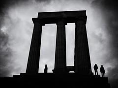 Stone Temple Pilots (Feldore) Tags: carltonhill edinburgh scotland architecture clouds gothic moody silhouettes sinister temple scottish national monument feldore mchugh em1 olympus 1240mm dramatic columns
