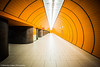 Tunnel (Alexander Czapka) Tags: subway metro tube station ubahn symmetry balance 2018 bahnhof deutschland februar germany münchen symmetrisch munich tunnel architecture design orange colour color colorful farben tiefe abstrakt abstract kreativ creativity creative circles circle bayern bavaria