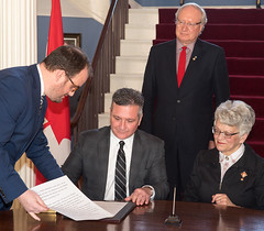 Cabinet Shuffle and swearing in Ministers in January 2018. (Government of Prince Edward Island) Tags: cabinet ministers swearing sworn premier governmenthouse