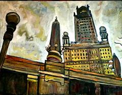 Chicago, oil on canvas by MK (The Big Jiggety) Tags: art arte kunst oil canvas huile toile oleo tela lienzo michael kent chicago illinois usa america architecture arquitectura city ville ciudad citta stadt urban urbain
