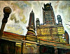 Chicago, oil on canvas by MK (The Big Jiggety) Tags: art arte kunst oil canvas huile toile oleo tela lienzo michael kent chicago illinois usa america architecture arquitectura city ville ciudad citta stadt urban urbain