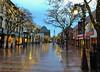 Rainy evening at 58 degrees! (LEXPIX_) Tags: rain rainy night evening dusk january thaw church street marketplace vermont lexpix iphone iphonex