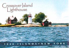 New York - Crossover Island Lighthouse - TO TRADE (bdsuss) Tags: newyork lighthouse postcard