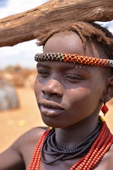 Dassanech Woman (Rod Waddington) Tags: africa african afrique afrika äthiopien ethiopia ethiopian ethnic etiopia ethnicity ethiopie etiopian omovalley omo outdoor omoriver dassanech tribe traditional tribal culture cultural woman beads wood portrait candid