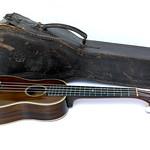 Ditson ukulele and vintage leather case thumbnail
