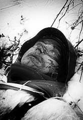 Death in the snow (alex_goss) Tags: ww2 reenactment reenactors reenacting snow winter soldiers blackandwhite bw monochrome