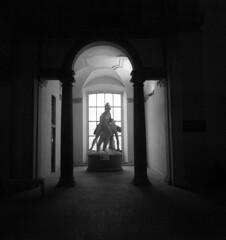 Accademia di Brera - Milan - December 2017 (cava961) Tags: brera milan milano analogue analogico monochrome monocromo bianconero bw 6x6