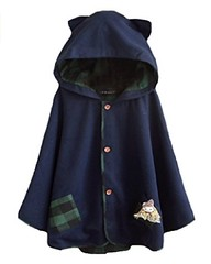Girls Cat Ears Tweed Coat (mywowstuff) Tags: gifts gadgets cool family friends funny shopping men women kids home