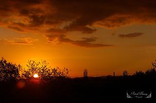 Coucher de soleil sur la Picardie