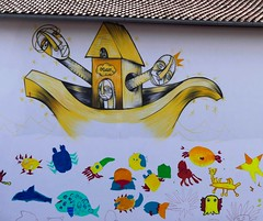 Delwood - Est-ce que nous avons besoin de protéger nos océans (Thethe35400) Tags: artderue arteurbano arturbain arturbà arteurbana calle grafit grafite grafiti graffiti graffitis graff mural murales muralisme plantilla pochoir stencil streetart schablone stampino tag urbanart école bateau mer océan pollution écologie