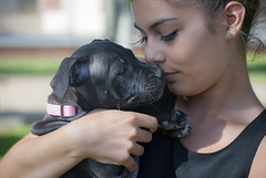 Ternura (javipaper) Tags: beauty woman dog girl ternura belleza portrait amistad