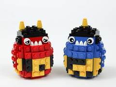 Oni Totoro (Gzu's Bricks) Tags: lego gzu bricks oni japan japon nihon demon jigoku enfer hell ogre japonais moc totoro monsters cute