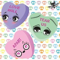 #oodlesofdoodleschallengefeb Candy hearts (Ana Camamiel) Tags: illustration ilustración candyhearts caramelos corazones candy hearts cuteillustration sweets dulces