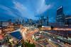 Engulfed (Bernard Yeo) Tags: buddhatoothrelictemple chinatown clouds hyperwide lightrails maxwell shentonway tanjongpagar voigtländer10mmf56asphericalhyperwideheliar