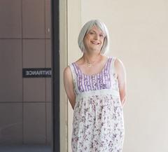 Entranced (justplainrachel) Tags: justplainrachel rachel cd tv crossdresser floral maxi dress treeoflife frock transvestite selfie selfportrait sydney australia trans