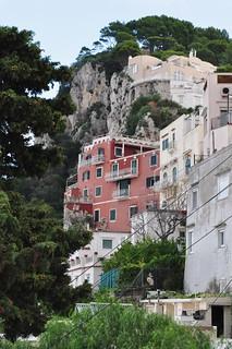 Montée vers le village, Capri, Campanie, Italie.