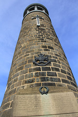 Crich stand close up (jpotto) Tags: uk derbyshire crich crichstandmemorial tower structure architecture monument sherwoodforesters eastmidlands ambervalley