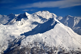 The mountains above Bad Gastein in deep winter