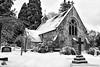 LYNHURST CHAPEL (mark_rutley) Tags: hampshire newforest nature winter snow church cemetery chapel blackandwhite