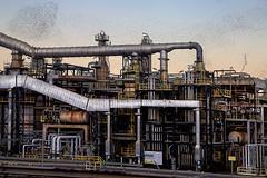 Energie alternative (nicolamarongiu) Tags: saras sarroch sardegna urbex paesaggio raffineria italy tubi oil decadence sunset tramonto