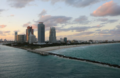 Leaving Port Miami (Rick & Bart) Tags: florida bahamas cruise cruiseship travel rickvink rickbart canon eos70d pool royalcaribbean enchantmentoftheseas miami portmiami sunset
