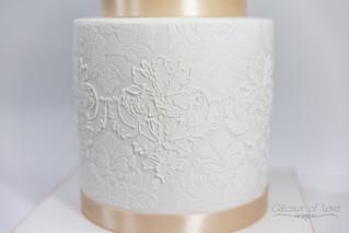 Classic Off-white Wedding Cake