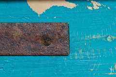 rust and paint (vyhphotography) Tags: canoneos80d california pointreyes abstract metal wood paint teal blue