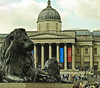 A0283LONDONb (preacher43) Tags: london england city westminster trafalgar square people landseer lions nelsons column national gallery