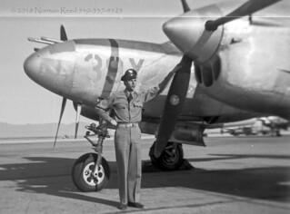Dad & P-38 c1945