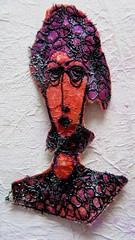 Yet more sampling (scrappy annie) Tags: faces machineembroidery machineembroidered fiberart fibreart fiberartist fibreartist embroidered