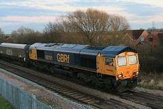 GBRf 66701 Coal Hoppers to Drax 2nd February 2018 Thorne South (2) (asdofdsa) Tags: thornesouth railway staition southyorkshire southend transport trains locomotive loco dm class66 freight cargo trackside tracks gbrf
