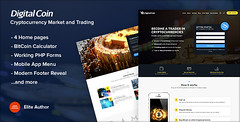Digital Coin - Cryptocurrency Marketing and Trading Site Template (Ansonika Themes) Tags: bitcoin business cryptocurrency currencyexchange digitalcurrency exchange finance investment market marketing mining trading wallet